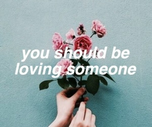 the 1975, loving someone, and flowers image