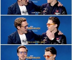 funny, spiderman, and tom holland image