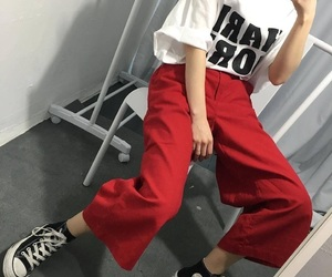 clothes, fashion, and red image