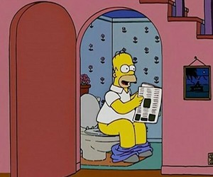 homer simpson and wc image