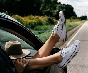 car, converse, and travel image