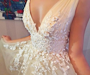 dress, gown, and wedding image