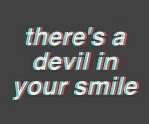 Devil and smile image