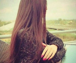 girl, beautiful, and hairs image