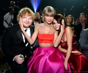 selena gomez, Taylor Swift, and ed sheeran image