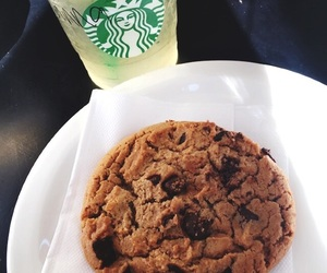 cookie, dessert, and drink image