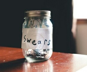 swear, jar, and vintage image