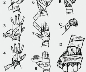 fight, hands, and bandage image