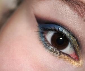 blue, eyeshadow, and gold image