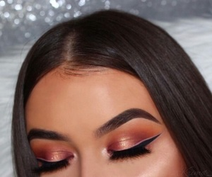 bronze, eyeliner, and makeup image
