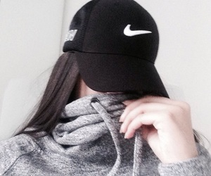 cap, girl, and nike image