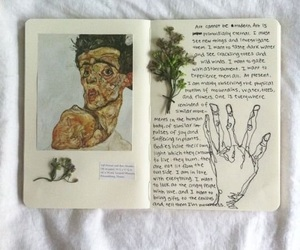 art, drawing, and diary image
