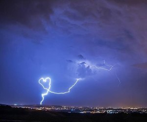 lightning, blue, and heart image