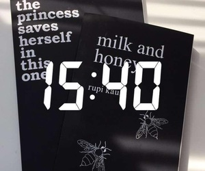 book, milk and honey, and snapchat image