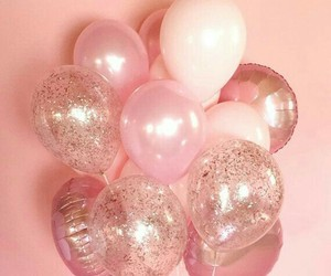 pink, balloons, and glitter image