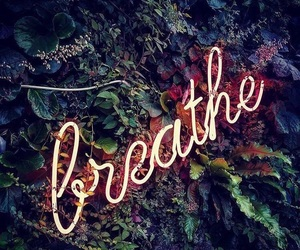 light, breathe, and quote image