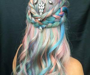 braid, girly, and hair image