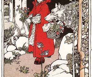 1900s, children's books, and little red riding hood image