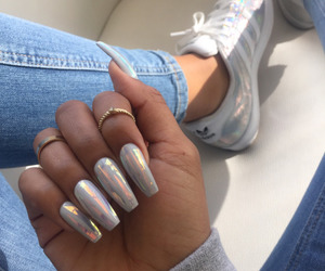 nails, adidas, and shoes image