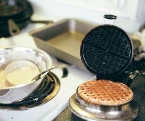 waffles, food, and vintage image