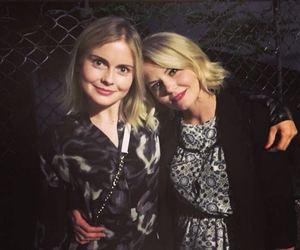 blonde girl, Jennifer Morrison, and rose image