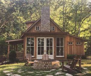 cabin, house, and cozy image