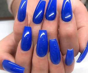 blue, gorgeous, and manicure image