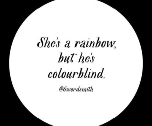 rainbow, quote, and love image