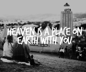love, quote, and heaven image