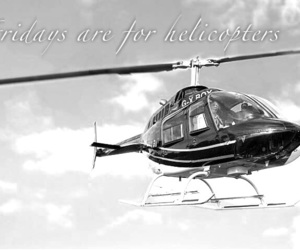 black and white, friday, and helicopter image