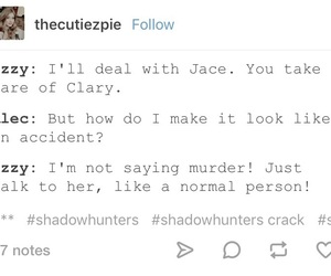 funny, mortal instruments, and tumblr post image