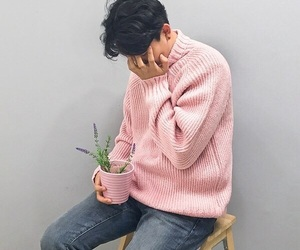 boy, plants, and aesthetic image