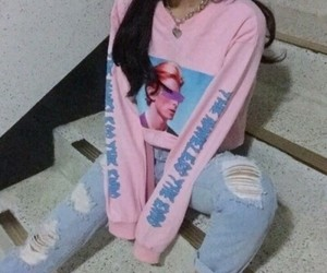 pink, style, and korean image