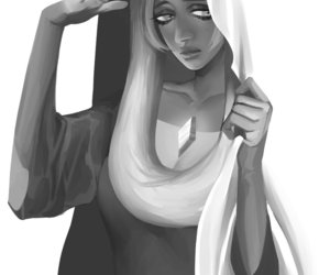 black and white, monochrome, and blue diamond image