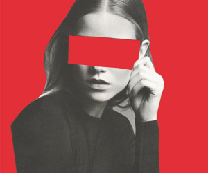 red, girl, and art image