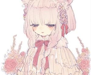 art, manga girl, and pastel image