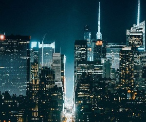 buildings, empire state building, and lights image