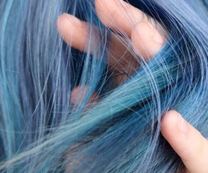 blue, hair, and aesthetic image