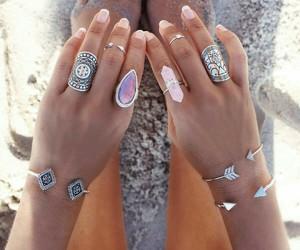 boho, bracelet, and nails image