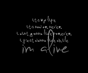 quote, bon jovi, and alive image