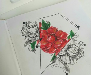 rose, tatto, and dotwork image