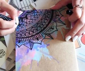 notebook, watercolors, and laurdiy image
