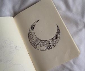 art, mandala, and moon image
