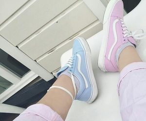 blue, fashion, and vans image