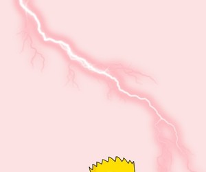 background, pink, and simpson image