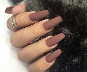 brown, chocolate, and nails image