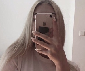 blonde, iphone, and clothes image