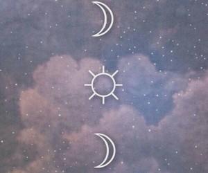 moon, sun, and wallpaper image