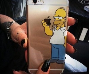 iphone, apple, and simpsons image