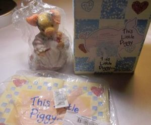 ebay, decorative collectibles, and this little piggy image